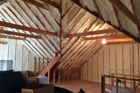 Open cell insulation was used exclusively in this Clarendon hills il home.  This was an economical improvement that was cost effective and increased the energy efficiency of the home by nearly 25%.