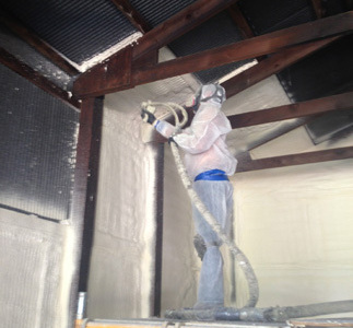 All spray foam Insulation that was shaved off was disposed of and left the building very clean.