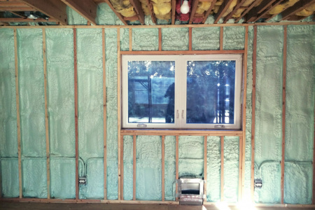 Your damp musty basement can be upgraded by using a moisture resistant close cell Spray Foam insulation as Rev Foam did in this Mount Prospect il home.