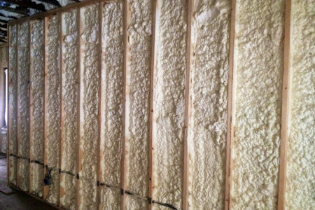 This is how open cell looks after it has been sprayed on to walls in hawthorn woods il.