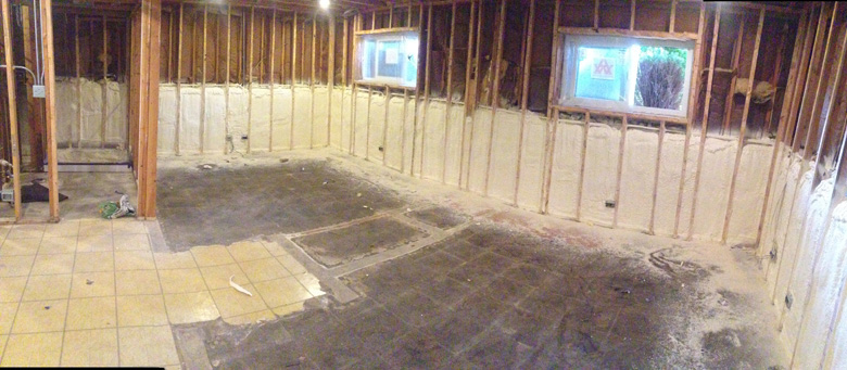 Revfoam professional spray foam insulation in chicago il for Concrete foam walls
